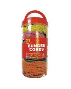 Bungee Cords Tub - 21 Pack