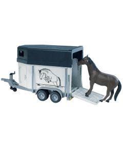 Bruder 02028 Horse Trailer Including 1 Horse