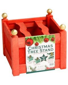 AFK Christmas Tree Stand - Red Stain