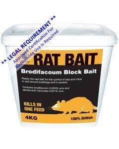 MVF Brodifacoum Block Bait - 4kg