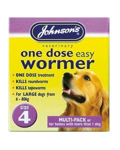 Johnson's One Dose Easy Wormer - Size 4