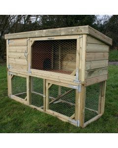 """Rabbit Hutch With Run - 6ft 2"""" x 2ft x 4ft"""