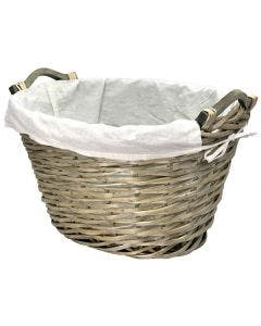 Manor Knapton Log Basket and Liner - Grey