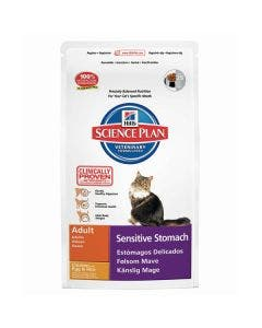 Hill's Science Plan Adult Cat Sensitive Stomach - Chicken with Egg & Rice 1.5kg