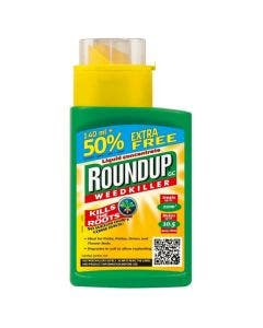 Roundup Liquid Concentrate Weedkiller - 140ml + 50% Extra Free