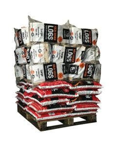 MVF Economy House Coal and Kiln Dried Logs - 49 Bag Pallet Bundle