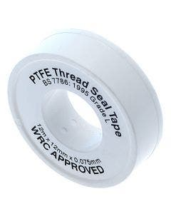 Roll Ptfe Thread Seal Tape To Bs.7786 - 12mm X 12m X 0.075mm
