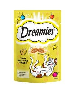 Dreamies With Delicious Cheese Cat Treats - 60g