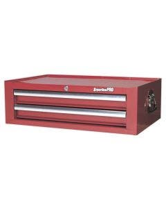 Sealey 2 Drawer Mid Box with Ball Bearing Slides - Red